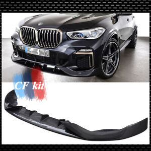 Carbon Fiber Front Bumper Lip Chin Spoiler Fit For BMW X5 G05 2020UP A Style