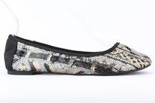 Lucky Brand Women's Sequin Geo Print Elisabeta Ballet Flats Size 5.5M