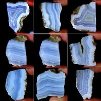 Natural Charming Designer Blue Lace Agate Rock Slab Polished Rough PS14