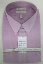 Roundtree & Yorke Gold Label Non Iron EZ Wash Cool Striped Dress Shirt Pink NWT