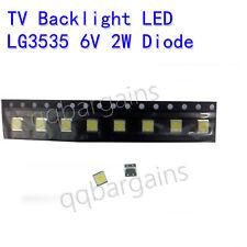 LG TV Backlight LED Diode SMD 3535 3537 6V 2W Cool White Sharp Vizio RCA 10PCS