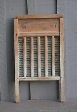 Old Vintage Antique Primitive National 801 Washboard Wooden & Metal Rustic Decor