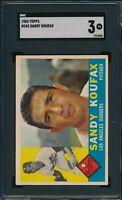 1960 Topps Set Break # 343 Sandy Koufax SGC 3 Not PSA *OBGcards*