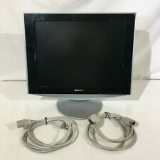 "Sony SDM-HS53 15"" 4:3 1024 x 768 LCD Monitor Silver Black W/ Cables Tested Works"