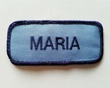 MARIA Embroidered Sew on Name Patch/ Work Uniform Name Tag FREE SHIPPING