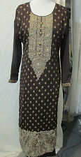paty collection gold embroider new design  shifon matrial pant kameez Size  M40