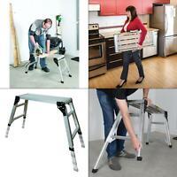 30.75 in. x 11.75 in. adjustable portable work platform | foldable aluminum step