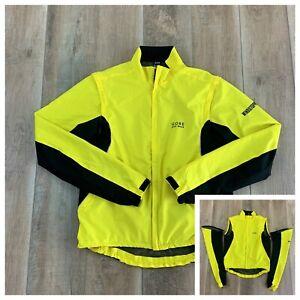 Gore Bike Wear Windbreaker Jacket Wind Stopper Removable Sleeves Men's SZ Large