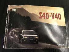 Manuale uso e manutenzione Volvo S40 - V40