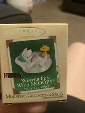 Hallmark 2003 Miniature Winter Fun with Snoopy Peanuts woodstock mini Ornament