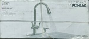 Kohler Thierry R22969-SD-VS 2 Handle Pull Down Stainless Kitchen Faucet **READ**