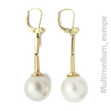 Ohrringe Faux Perle Metall vergoldet  Brisur in 925 Silber earrings faux pearl