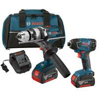 Bosch 18V Li-Ion Hammer Drill/Impact Driver Combo CLPK222-181 Reconditioned