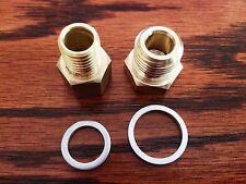 LS1 4.8 5.3 5.7 6.0 Oil Pressure & Coolant Temp Gauge Fitting Adapters Swap
