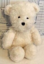 "Jellycat Angora Blizzard Polar Bear White Shaggy Fur Stuffed Animal Plush 12"""