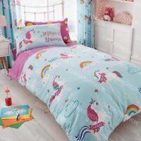 Magic Unicorn Fairy Rainbow Girls Kids Bedding Bed Duvet Cover & Pillowcase Set