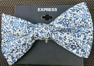 Express Men Adjustable Bow Tie In Floral Print ~ Wedding/Work/Casual Bow Tie NEW