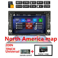 "6.2"" HD 2-din CD/DVD GPS Navigation Radio Stéréo Bluetooth + North america map"