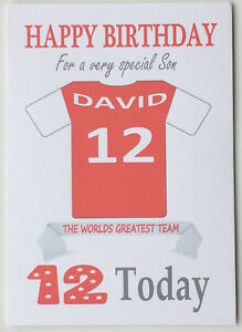 """""""Rotherham United Style"""" Personalised UNOFFICIAL Football Birthday card"""
