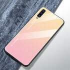 For Samsung A6 A8 A7 A9 pro 2019 Shockrpoof Gradient Tempered Glass Case Cover