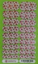 Jamberry Nail Wraps 84R5-Paper Hearts Full Sheet Metallic