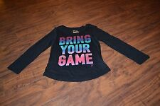 B7- Old Navy Black Long Sleeve Bring Your Game Top Size Xs (5)