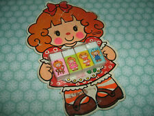 Ultra Rare Vintage 1980s Kutsuwa Sealed Cute Girl erasers rubbers gommes gommine