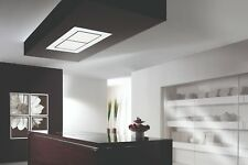 Dawn T3 Designer White Glass Ceiling Cooker Hood With S/S External Motor