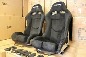 2x Bride Seat stradia lowmax, Fiberglass Fullblack Alcantara Genuine ADR Apprv