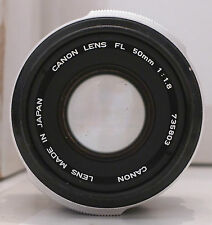 Canon Film Camera Lens FL 50mm 1:1.8- Made in Japan TESTED