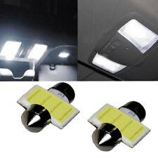 2pcs 31mm 12 SMD COB LED Bulbs T10 6W White For Car Interior Dome Map Light Lamp