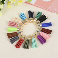 Colorful Tassel PomPom Charm Pendant DIY For Keychain Handmade Accessories L3M2