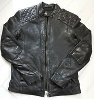 Tigha  Herren Bikder Lederjacke Black Schwarz   Sheep Leather  Size S