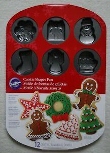 WILTON 12 Icons Cavity Mould Winter Christmas Snowflake Cookie Cake Pan Tray