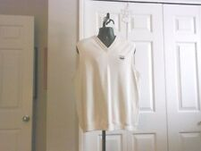 ASHWORTH Men's NWOT V Neck Sweater Vest Ivory Cotton
