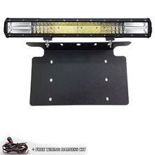 For TOYOTA 4Runner Car Truck TRI ROW 7D 648W LED Light Bar Front License Mount