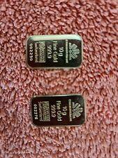 2 mal 10 g Goldbarren