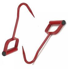 11in Long Hay Bale Hook Metal & Wood Farm Tool