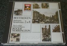 BEETHOVEN-SYMPHONY No. 2 & 8-EMI CD 1987-1st ISSUE-ROGER NORRINGTON-RARE