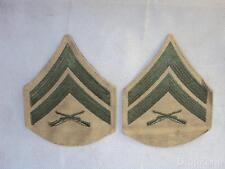 Pair of USMC Corporal's Stripes / Chevrons / Insignia / / Cloth Patches Khaki