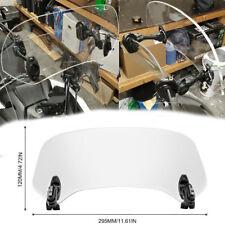 Universal Einstellbar Windschutzscheibe Clip On Motorrad Spoiler Windschild Klar