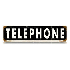"""Vintage Style Retro Old Telephone Booth Steel Metal Sign 20"""" x 5"""""""