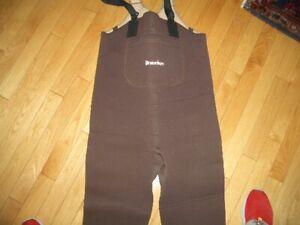 Streamborn Brown Neoprene Stockingfoot Chest Wader Size Medium
