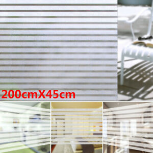 2M x 45CM Room Bathroom Home Window Film Door Privacy Bath Sticker PVC