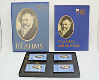 Time Life Great Men Of Music Johannes Brahms 4 Cassette Tape Set Pre-Owned