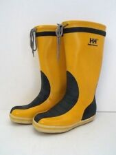 HH Helly-Hansen Goldenrod Yellow Rubber Boot Ladies Size 2