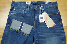 New Levi's 511 Slim Fit Blue Washed White Oak Cone Selvedge Denim Jeans 31 x 34