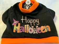 Happy Paws Pet Clothing Happy Halloween Shirt Size Small