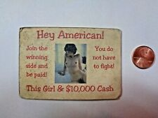 Orig Wartime North Vietnam Defection Card- Hey American You Do Not Have To Fight