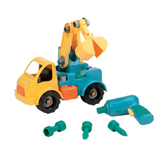 Take APart Toy Crane Vehicles Battat Toys Green For Little Boys Kids